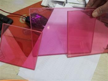 彩色玻璃夹胶粉色