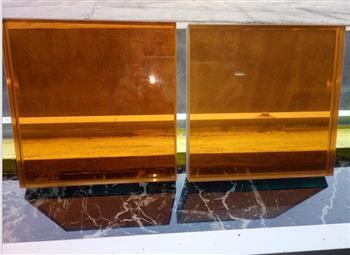 桔黄色透明夹胶