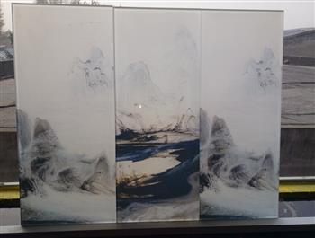艺术山水画玻璃图案定制