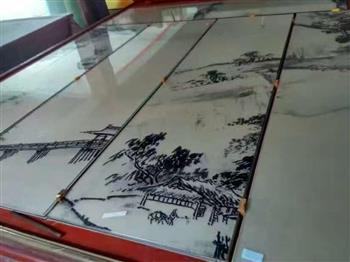 艺术山水画玻璃
